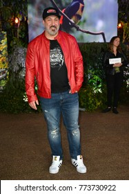 "LOS ANGELES, CA. December 11, 2017: Joey Fatone of 'NSync at the Los Angeles premiere of ""Jumanji: Welcome To the Jungle"" at the TCL Chinese Theatre, Hollywood"