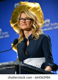 LOS ANGELES, CA - DECEMBER 12, 2016: Actress Laura Dern at the nominations announcement for the 74th Golden Globe Awards at the Beverly Hilton Hotel, Beverly Hills, CA.