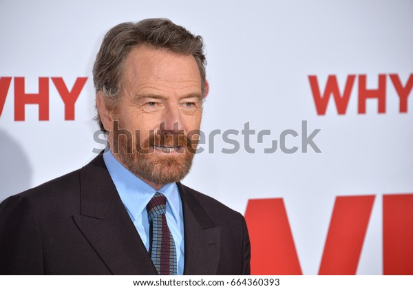 "LOS ANGELES, CA - DECEMBER 16, 2016: Actor Bryan Cranston at the world premiere of ""Why Him?"" at the Regency Bruin Theatre, Westwood."