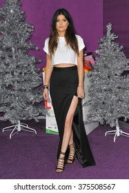 """LOS ANGELES, CA - DECEMBER 18, 2013: Kylie Jenner at the world premiere of """"Justin Bieber's Believe"""" at the Regal Cinemas LA Live."""
