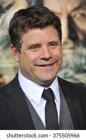 """LOS ANGELES, CA - DECEMBER 2, 2013: Sean Astin at the Los Angeles premiere of """"The Hobbit: The Desolation of Smaug"""" at the Dolby Theatre, Hollywood."""