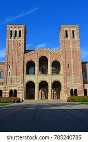 LOS ANGELES, CA - DECEMBER 31, 2017: New Year's Eve is quiet at Royce Hall on the UCLA campus. The building is a premier music venue for Southern California.