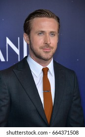 "LOS ANGELES, CA - DECEMBER 6, 2016: Actor Ryan Gosling at the Los Angeles premiere for ""La La Land"" at the regency Village Theatre, Westwood."
