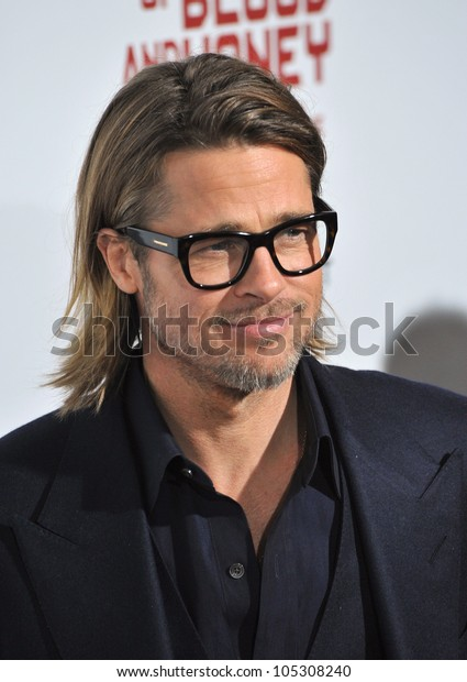 """LOS ANGELES, CA - DECEMBER 8, 2011: Brad Pitt at the Los Angeles premiere of """"In The Land of Blood and Honey"""" at the ArcLight Theatre, Hollywood. December 8, 2011  Los Angeles, CA"""