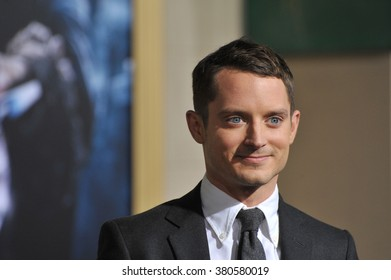 "LOS ANGELES, CA - DECEMBER 9, 2014: Elijah Wood at the Los Angeles premiere of his movie ""The Hobbit: The Battle of the Five Armies"" at the Dolby Theatre, Hollywood."
