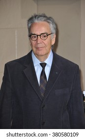 """LOS ANGELES, CA - DECEMBER 9, 2014: Composer Howard Shore at the Los Angeles premiere of his movie """"The Hobbit: The Battle of the Five Armies"""" at the Dolby Theatre, Hollywood."""