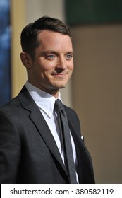 """LOS ANGELES, CA - DECEMBER 9, 2014: Elijah Wood at the Los Angeles premiere of his movie """"The Hobbit: The Battle of the Five Armies"""" at the Dolby Theatre, Hollywood."""