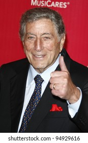 LOS ANGELES, CA - FEB 10: Tony Bennett at the 2012 MusiCares Person of the Year Tribute To Paul McCartney at the LA Convention Center on February 10, 2012 in Los Angeles, California