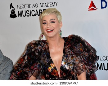 LOS ANGELES, CA. February 08, 2019: Katy Perry at the 2019 MusiCares Person of the Year Gala honoring Dolly Parton at the Los Angeles Convention Centre.Picture: Paul Smith/Featureflash