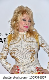 LOS ANGELES, CA. February 08, 2019: Dolly Parton at the 2019 MusiCares Person of the Year Gala honoring Dolly Parton at the Los Angeles Convention Centre.Picture: Paul Smith/Featureflash