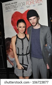 """LOS ANGELES, CA - FEBRUARY 1, 2011: Rachel Bilson & Tom Sturridge at the Los Angeles premiere of """"Waiting for Forever"""" at the Pacific Theatres at The Grove. February 1, 2011  Los Angeles, CA"""