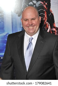 """LOS ANGELES, CA - FEBRUARY 10, 2014: James DuMont at the premiere of """"RoboCop"""" at the TCL Chinese Theatre, Hollywood."""