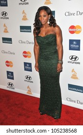 LOS ANGELES, CA - FEBRUARY 11, 2012: Serena Williams at the 2012 Clive Davis Pre-Grammy Party at the Beverly Hilton Hotel, Beverly Hills. February 11, 2012  Los Angeles, CA