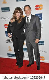 LOS ANGELES, CA - FEBRUARY 11, 2012: Tom Hanks & wife Rita Wilson at the 2012 Clive Davis Pre-Grammy Party at the Beverly Hilton Hotel, Beverly Hills. February 11, 2012  Los Angeles, CA