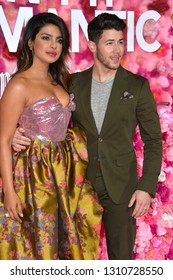 """LOS ANGELES, CA. February 11, 2019: Priyanka Chopra & Nick Jonas at the premiere of """"Isn't It Romantic"""" at The Theatre at Ace Hotel.Picture: Paul Smith/Featureflash"""