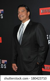 """LOS ANGELES, CA - FEBRUARY 13, 2014: Gil Birmingham at the season two premiere of Netflix series """"House of Cards"""" at the Directors Guild Theatre."""