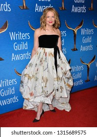 LOS ANGELES, CA. February 17, 2019: Stephanie Gillis at the 2019 Writers Guild Awards at the Beverly Hilton Hotel.