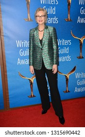 LOS ANGELES, CA. February 17, 2019: Jane Lynch at the 2019 Writers Guild Awards at the Beverly Hilton Hotel.