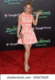 """LOS ANGELES, CA - FEBRUARY 17, 2016: Shakira at the premiere of Disney's """"Zootopia"""" at the El Capitan Theatre, Hollywood."""