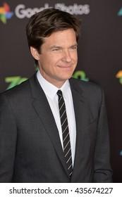 "LOS ANGELES, CA - FEBRUARY 17, 2016: Jason Bateman at the premiere of Disney's ""Zootopia"" at the El Capitan Theatre, Hollywood."