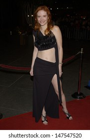 LOS ANGELES, CA - FEBRUARY 18, 2002: Model PHOEBE PRICE at the Los Angeles premiere of Dragonfly.
