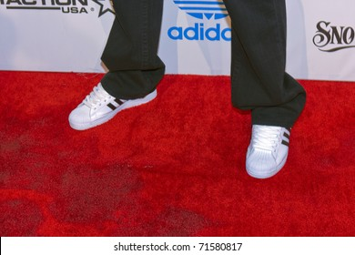 """LOS ANGELES, CA - FEBRUARY 19: Darryl """"DMC"""" McDaniels attends the Adidas and Snoop Dogg Co-Host ASW Party at The Standard Hotel on February 19, 2011 in Los Angeles, California"""