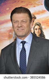 "LOS ANGELES, CA - FEBRUARY 2, 2015: Sean Bean at the Los Angeles premiere of his movie ""Jupiter Ascending"" at the TCL Chinese Theatre, Hollywood."