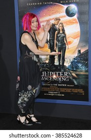 """LOS ANGELES, CA - FEBRUARY 2, 2015: Director/writer/producer Lana Wachowski at the Los Angeles premiere of her movie """"Jupiter Ascending"""" at the TCL Chinese Theatre, Hollywood."""