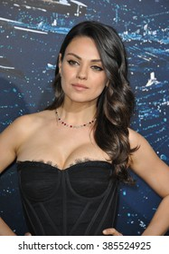 """LOS ANGELES, CA - FEBRUARY 2, 2015: Mila Kunis at the Los Angeles premiere of her movie """"Jupiter Ascending"""" at the TCL Chinese Theatre, Hollywood."""