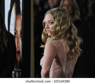 """LOS ANGELES, CA - FEBRUARY 21, 2012: Amanda Seyfried at the Los Angeles premiere of her new movie """"Gone"""" at the Arclight Theatre, Hollywood. February 21, 2012  Los Angeles, CA"""