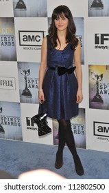 LOS ANGELES, CA - FEBRUARY 21, 2009: Zooey Deschanel at the Film Independent Spirit Awards on the beach at Santa Monica