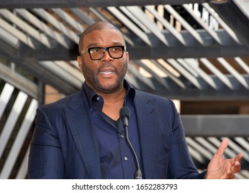 LOS ANGELES, CA. February 21, 2020: Tyler Perry at the Hollywood Walk of Fame Star Ceremony honoring Dr Phil McGraw.Pictures: Paul Smith/Featureflash