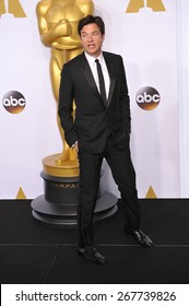 LOS ANGELES, CA - FEBRUARY 22, 2015: Jason Bateman at the 87th Annual Academy Awards at the Dolby Theatre, Hollywood.