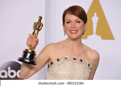 LOS ANGELES, CA - FEBRUARY 22, 2015: Julianne Moore at the 87th Annual Academy Awards at the Dolby Theatre, Hollywood.
