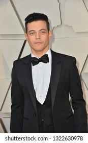 LOS ANGELES, CA. February 24, 2019: Rami Malek at the 91st Academy Awards at the Dolby Theatre.