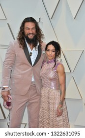 LOS ANGELES, CA. February 24, 2019: Jason Momoa & Lisa Bonet at the 91st Academy Awards at the Dolby Theatre.Picture: Paul Smith/Featureflash