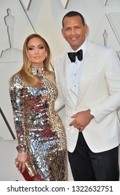 LOS ANGELES, CA. February 24, 2019: Jennifer Lopez & Alex Rodriguez at the 91st Academy Awards at the Dolby Theatre.Picture: Paul Smith/Featureflash