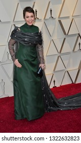 LOS ANGELES, CA. February 24, 2019: Olivia Colman at the 91st Academy Awards at the Dolby Theatre.Picture: Paul Smith/Featureflash