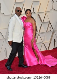 LOS ANGELES, CA. February 24, 2019: Angela Bassett & Courtney B. Vance  at the 91st Academy Awards at the Dolby Theatre.
