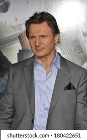 """LOS ANGELES, CA - FEBRUARY 24, 2014: Liam Neeson at the world premiere of his movie """"Non-Stop"""" at the Regency Village Theatre, Westwood."""