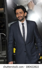 """LOS ANGELES, CA - FEBRUARY 24, 2014: Director Jaume Collet-Serra at the world premiere of his movie """"Non-Stop"""" at the Regency Village Theatre, Westwood."""
