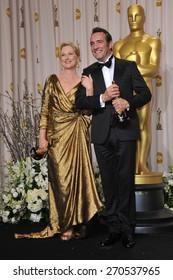 LOS ANGELES, CA - FEBRUARY 26, 2012: Meryl Streep & Jean DuJardin at the 82nd Academy Awards at the Hollywood & Highland Theatre, Hollywood.