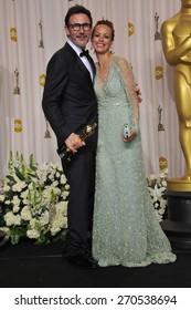 LOS ANGELES, CA - FEBRUARY 26, 2012: Michel Hazanavius & Berenice Bejo at the 82nd Academy Awards at the Hollywood & Highland Theatre, Hollywood.