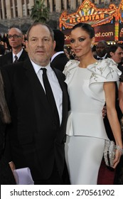 LOS ANGELES, CA - FEBRUARY 26, 2012: Harvey Weinstein & Georgina Chapman at the 84th Annual Academy Awards at the Hollywood & Highland Theatre, Hollywood.