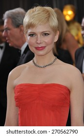LOS ANGELES, CA - FEBRUARY 26, 2012: Michelle Williams at the 84th Annual Academy Awards at the Hollywood & Highland Theatre, Hollywood.