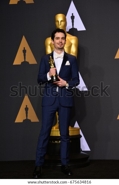 LOS ANGELES, CA - FEBRUARY 26, 2017: Damien Chazelle in the photo room at the 89th Annual Academy Awards at Dolby Theatre, Los Angeles