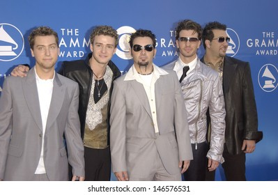 LOS ANGELES, CA - FEBRUARY 27, 2002: Pop group *NSYNC at the 2002 Grammy Awards in Los Angeles.
