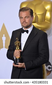 LOS ANGELES, CA - FEBRUARY 28, 2016: Leonardo DiCaprio at the 88th Academy Awards at the Dolby Theatre, Hollywood.