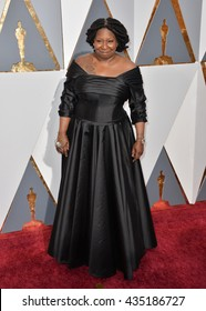 LOS ANGELES, CA - FEBRUARY 28, 2016: Whoopie Goldberg at the 88th Academy Awards at the Dolby Theatre, Hollywood.