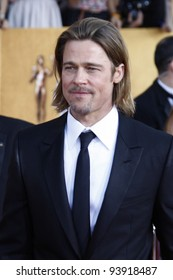 LOS ANGELES, CA - JAN 29: Brad Pitt at the 18th annual Screen Actor Guild Awards at the Shrine Auditorium on January 29, 2012 in Los Angeles, California